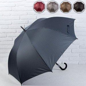 Зонт - трость полуавтоматический «Полоски», 8 спиц, R = 60 см, цвет МИКС 4685532