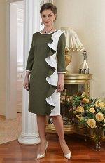 Арт.7259Б платье с вертикальным воланом Salvi