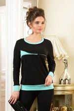 Арт.0438А блузка с молнией