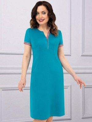 Платье Модный каприз (бирюза)
