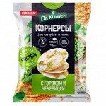Dr.Korner Чипсы цельнозерновые 50г  кукурузно-рис. с горошком и чечевицей