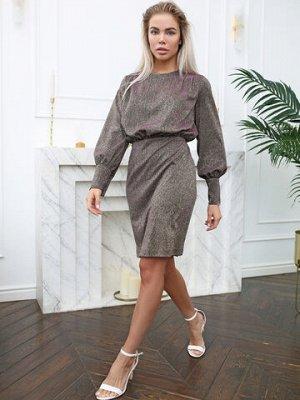 Платье темно серебряное открытая спина