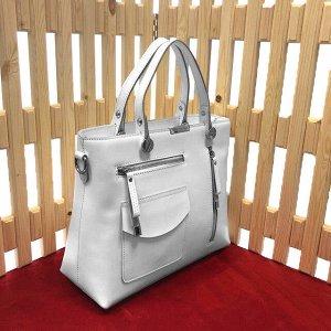 Классическая сумка Asty из высококлассной натуральной кожи белого цвета.