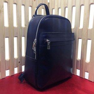 Стильный рюкзак-трансформер Megapolis формата А4 из натуральной кожи цвета темный индиго.