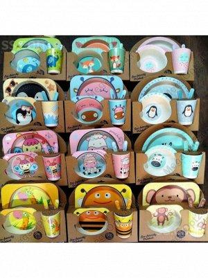 Набор детской бамбуковой ЭКО посуды