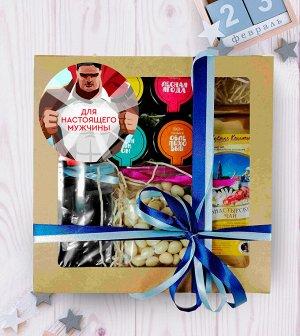 Подарочный набор крафт коробка Для настоящего мужчины №1