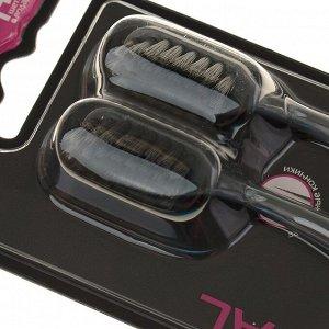 Зубная щётка D.I.E.S Charcoal, средней жёсткости, 1+1 шт., микс