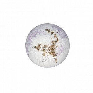 Бурлящий шар для ванн двухцветный с цветками лаванды, 130 г