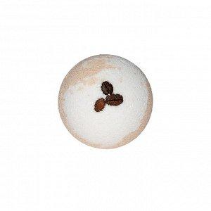 Бурлящий шар для ванн двухцветный с  кофейными зернами, 130 г