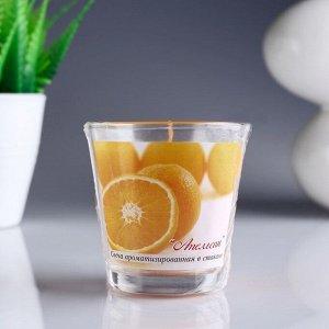 Свеча ароматизированная в стакане «Апельсин»