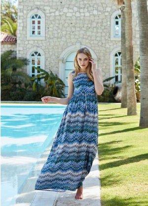 Платье 8114 цвет синий