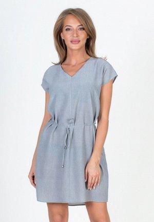 Платье на поясе со спущенным плечом Сити