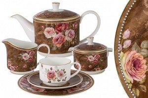 Чайный сервиз Английская роза, 6 персон, 21 предмет