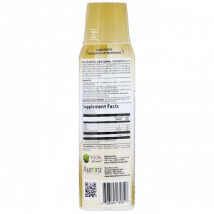 Aurora Nutrascience, Micro-Liposomal Vitamin D-3+, Organic Fruit Flavor, 3,000 IU, 5.4 fl oz (160 ml)