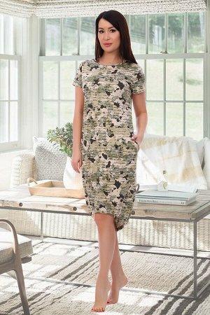 Платье Данный товар в одной расцветке. состав: 100% хлопок, ткань: кулирка реактив. Платье полуприлегающего силуэта с коротким рукавом и карманами в боковых швах. Прекрасно сидит на любой фигуре! Соче