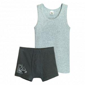 3290 Комплект для мальчика (серый меланж/т.серый)