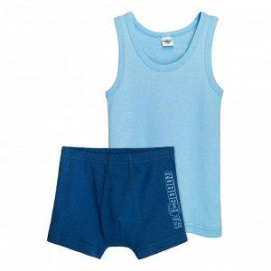 3293 Комплект для мальчика (голубой/т.синий)