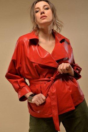 Куртка Куртка GRATTO 2017 красный  Состав ткани: ПЭ-100%;  Рост: 170 см.  Описание : куртка женская , свободного покроя из экокожи ,чёрного цвета. Рукав реглан длина 3/4, на манжете . Длина рукава с