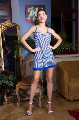 Платье Короткое пляжное платье выполненая из эластичной сетки. Модель прямого силуэта на тонких регулируемых бретелях. Вытачка по груди прекрасно подчеркивает форму тела. Модель с круглым вырезом горл