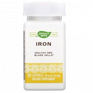 Nature&#x27 - s Way, Iron, 18 mg, 100 Capsules