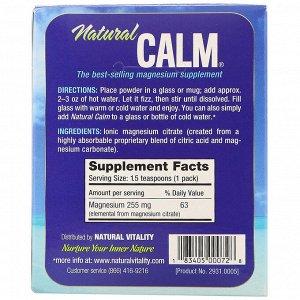 Natural Vitality, Natural Calm, The Anti-Stress Drink, Original, 30 Single-Serving Packs, 0.12 oz (3.3 g) Each