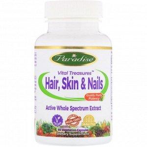 Paradise Herbs, Vital Treasures для волос, кожи и ногтей, 60 вегетарианских капсул