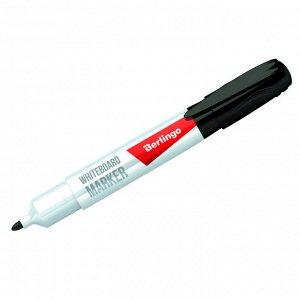 """Маркер для белых досок Berlingo """"Uniline WB200"""", черный, пулевидный, 2мм"""