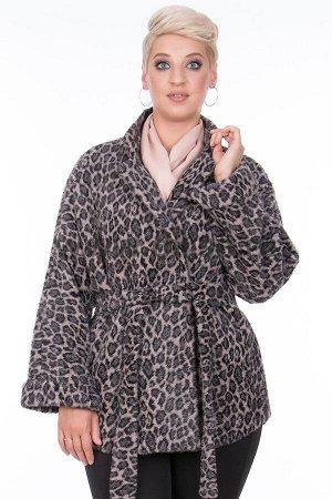 Куртка Tazetta 15054-2_Р (Серый леопард 324)