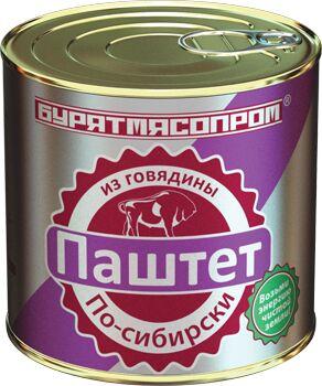 """Паштет """"По-сибирски"""" из говядины Бурятия 240 г.1/30"""