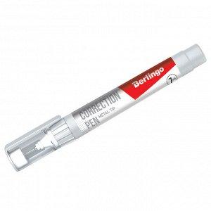 Корректирующий карандаш Berlingo, 07мл, металлический наконечник