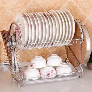 Сушилка для посуды 2-х ярусная настольная