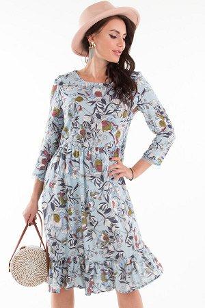 Платье Прованс (голубое, цветочек) П1333-11