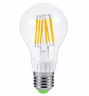 ЛАМПА СВЕТОДИОДНАЯ LED-A60-Premium 10Вт 220-240В Е27 3000К 980Лм прозрачная