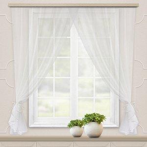 Комплект штор для кухни Дороти 280*180 белый