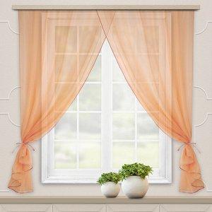 Комплект штор для кухни Дороти 280*180 персик