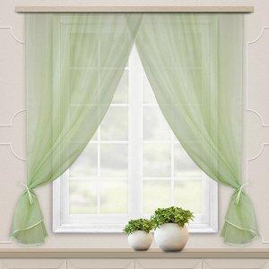 Комплект штор для кухни Дороти 280*180 св.зеленый