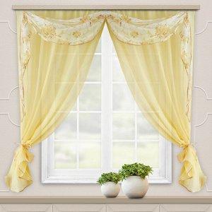 Комплект штор для кухни Легкость св.желт