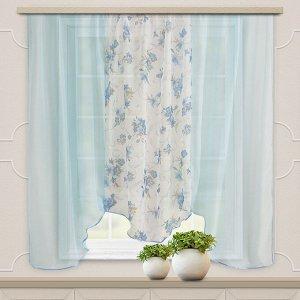 Комплект штор для кухни Альби 270*160 голубой