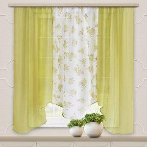 Комплект штор для кухни Альби 270*160 зеленый