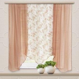 Комплект штор для кухни Альби 270*160 какао