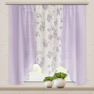 Комплект штор для кухни Альби 270*160 сирень