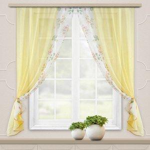 Комплект штор для кухни Арина золото