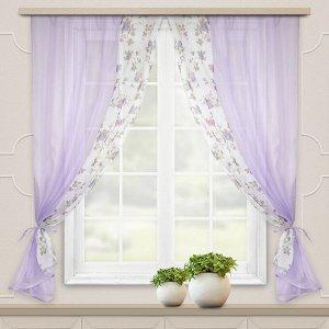 Комплект штор для кухни Арина сирень