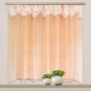Комплект штор для кухни Нежность персик