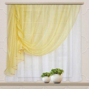 Комплект штор для кухни Дорис 285*160 св.желтый лев.