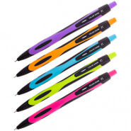 """Ручка шариковая автоматическая Berlingo """"Color Zone"""" 0,7мм, синяя, корпус ассорти"""