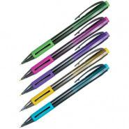 """Ручка шариковая автоматическая Berlingo """"SI-400 Color"""" синяя, 0,7мм, грип, корпус ассорти"""