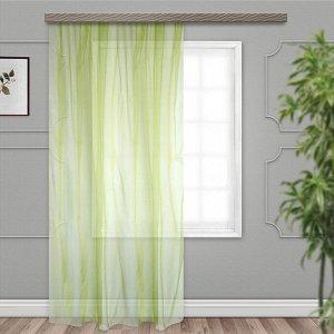 штора Органза 150*260 см со шторной лентой желто-зеленый