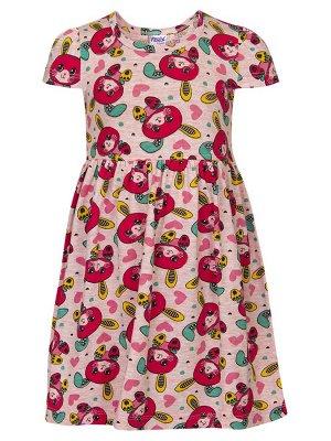Платье  Цвет:светло-розовый