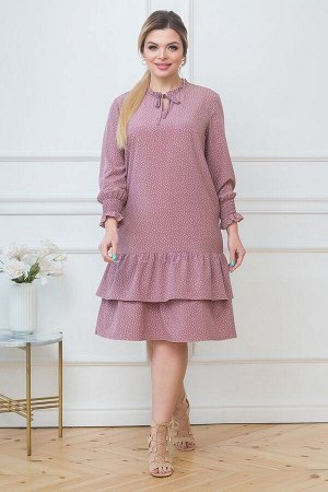 Платье Аделина №3 .Цвет:розово-коричневый